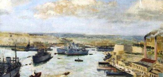 troopship mediterranean harbour WW2 cricket
