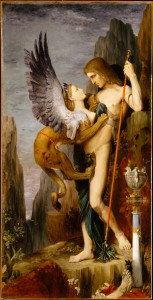 Oedipus and the Sphinx-Gustave Moreau